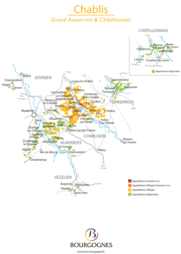 Chablis France Map.Wine And Gourmet Tour France Bourgogne All Inclusive And Tailor Made